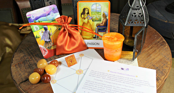 Sacral Chakra Balancing Satin Pouch Collection