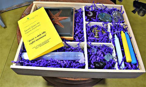 Sacred Space Kit with Wooden divided box - Treasure Assortment