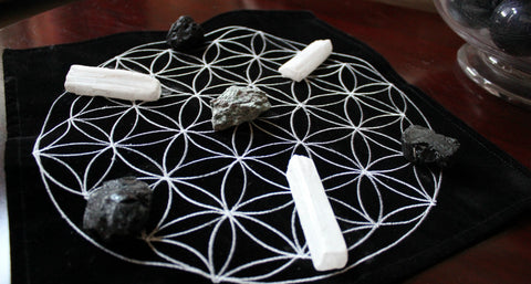 Selenite & Black Tourmaline Pair for Protection