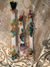 Embellished Selenite Wands with Stones, Shells, Angels; FB1961