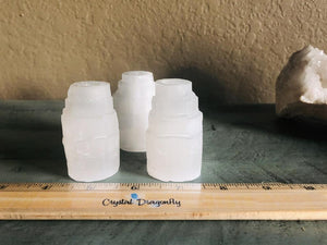Selenite Towers / Candle Holder (Mini) for positive energy, FB1072