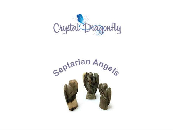 Angels carved from Septarian; FB1651