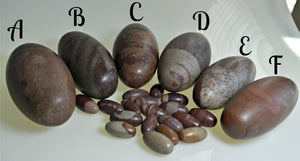 Shiva Lingam Stones - Contentment, Stability, Lower Chakras, Reconciliation; FB1131 🚛🏡🚛Moving Special🚛🏡🚛