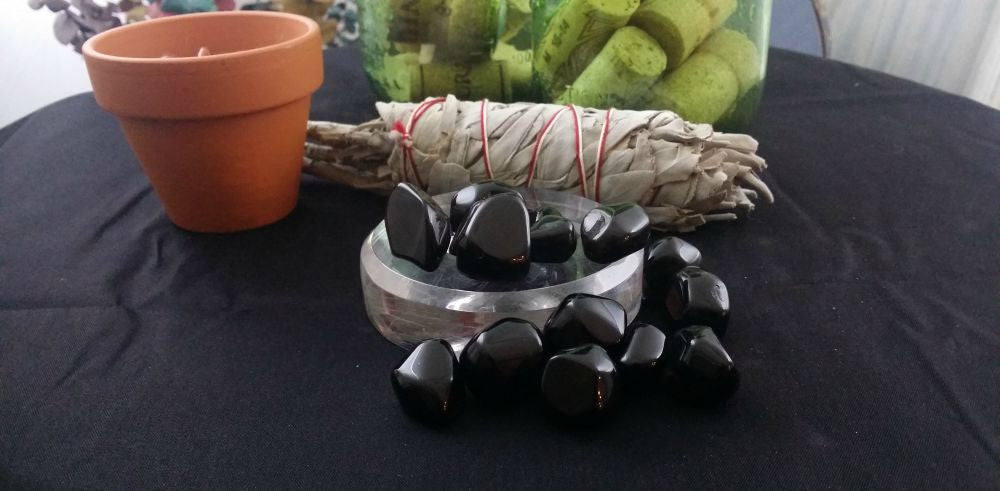 Tumbled Shungite - Powerful Healing Crystal, Protection, Grounding & Centering, FB1066