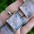Gemstone Chip Pendant in Silver Plated Window Setting; FB2107