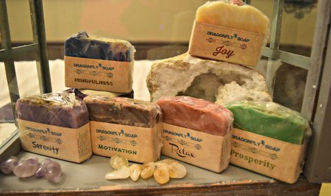 Artisan Soaps crafted with Intentions and Gemstones; FB1249