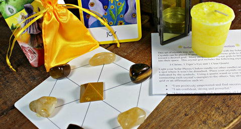 Solar Plexus Chakra Balancing Satin Pouch Collection
