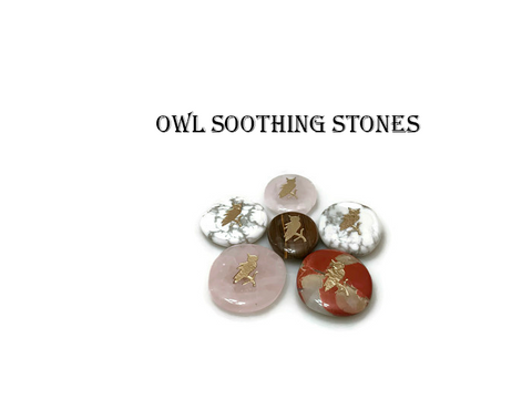 Wolf, Eagle, Unicorn,  Owl & other Assorted Totem / Spirit Stones