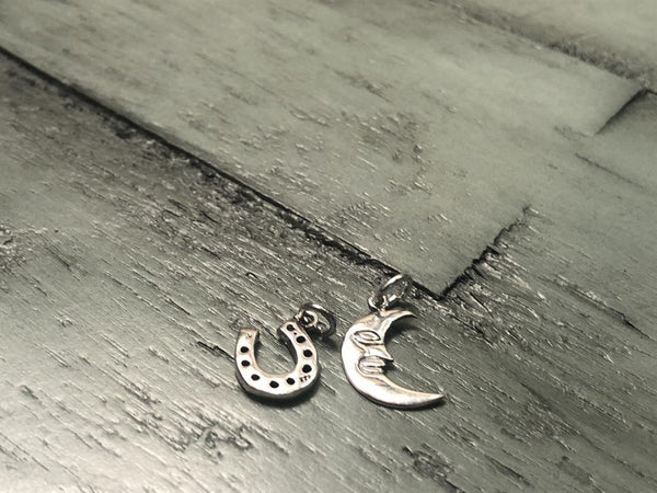 Sterling Silver Horseshoe or Crescent Moon charm: FB2524