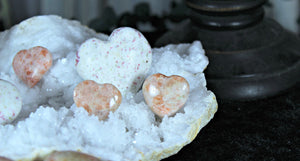 Sunstone Pocket Heart for joy, mental clarity, love, and abundance