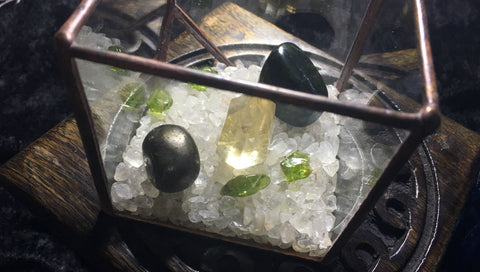 Crystal Energy Terrarium for Prosperity; FB1042
