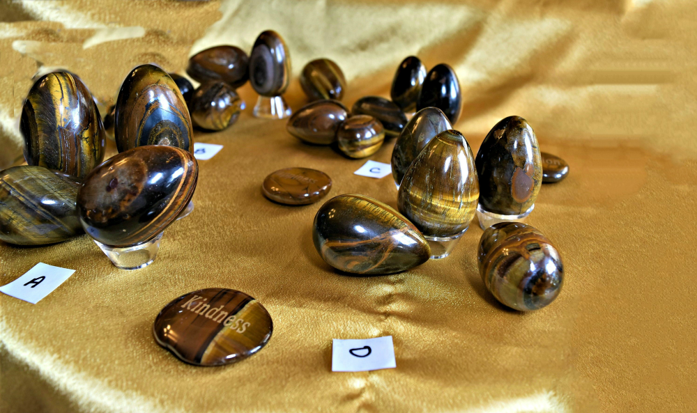 Gold Tiger Eye Eggs; FB1571