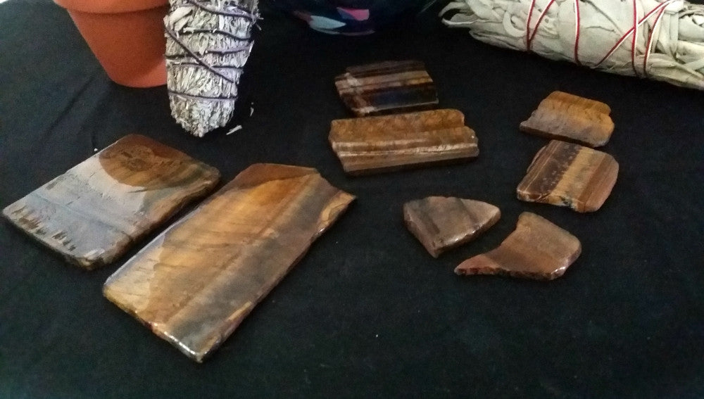 Tiger's Eye Mini Slabs - Incredibly Versatile for prosperity, clarity and calm during chaos