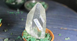 Time Link Crystals - Special Quartz Point - Clear and Beautiful