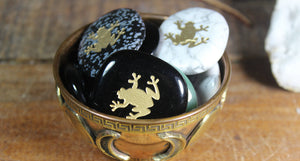 Turtle or Frog Totem / Spirit Stone Engraved on Assorted Gemstones