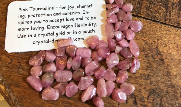 Tumbled Pink Tourmaline, A quality, Mini Stones