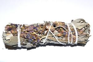 "White Sage and ""Royal"" Purple Lavender Smudge Stick, FB2637"