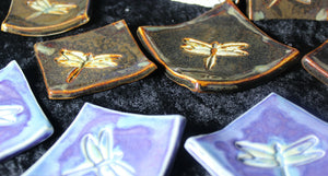 Reiki Charged Dragonfly Wishing Dish; FB1265