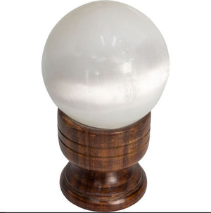 Carved Wood Chalice shape Sphere Stand, FB2593