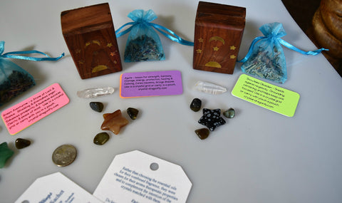 Wood Box Stone Star Collections with Tranquil Dreams Sachet