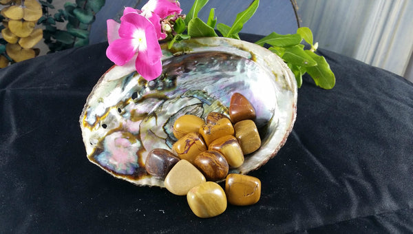 Tumbled Yellow Jasper for positive energy, perseverance, learning & self-discipline