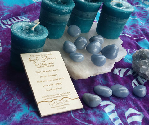 Reiki Charged, Hand-Poured Candle - Angel's Influence + Affirmation