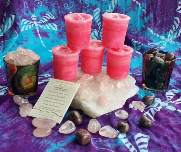 Reiki Charged, Hand-Poured Candle for Love + Affirmation