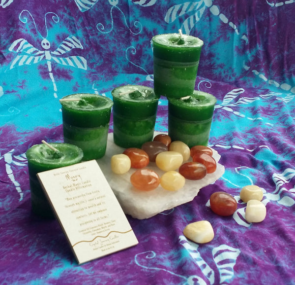 Reiki Charged, Hand-Poured Candle for Money + Affirmation
