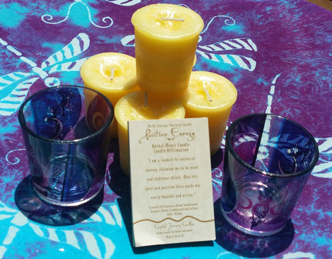 Reiki Charged, Hand-Poured Candle for Positive Energy +  Affirmation