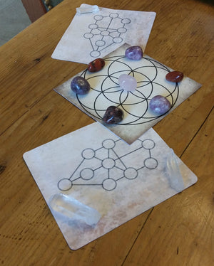 Sacred Geometry Card-Stock Crystal Grid Layouts - Bases