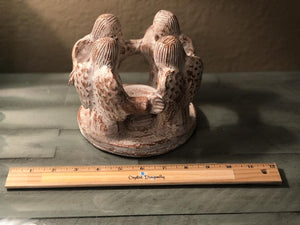 Circle of Angels Tealight Holder, Terracotta, FB2656