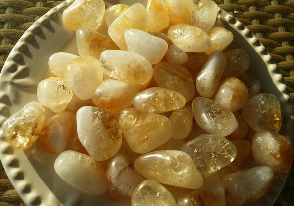 Tumbled Citrine - Stone of Success, Harmony & Cheerfulness