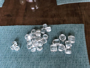 Tumbled Clear Quartz, Cube-like shape, FB2606