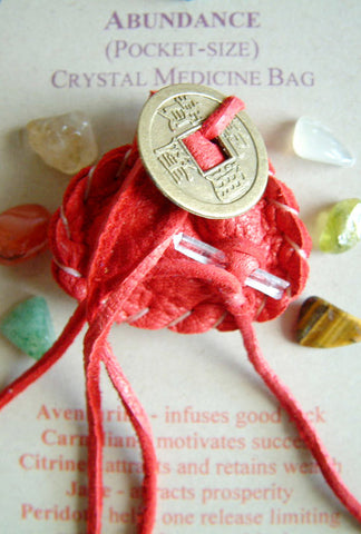Crystal Medicine Bag - Pocket Size - Abundance