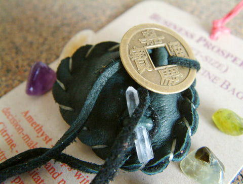 Crystal Medicine Bag - Pocket Size - Business Prosperity