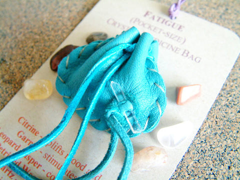 Crystal Medicine Bag - Pocket Size - Fatigue