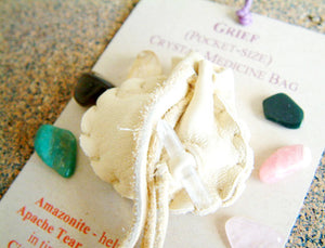 Crystal Medicine Bag - Pocket Size - Grief