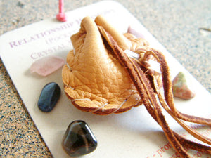Crystal Medicine Bag - Pocket Size - Relationship Harmony