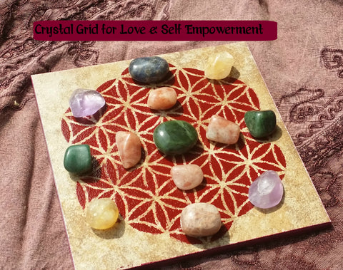 Love & Self-Empowerment Crystal Grid Collection
