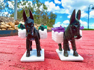 Donkey with Side Packs of Emerald or Amethyst, Totem / Spirit Animal; FB2705