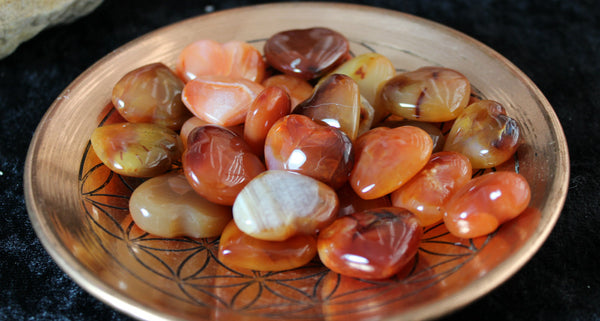 Carnelian First Quality from Madagascar Pocket Heart for personal power, vitality and passion