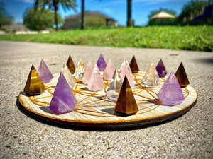 Faceted Conical Pyramid Carvings FB2433