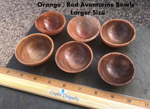 Orange / Red Aventurine Bowls for your personal altar or sacred space; FB2338