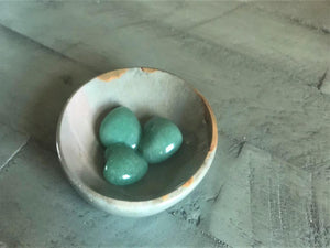 Green Aventurine Pocket Hearts for abundance, luck, confidence, intuition & to neutralize stress