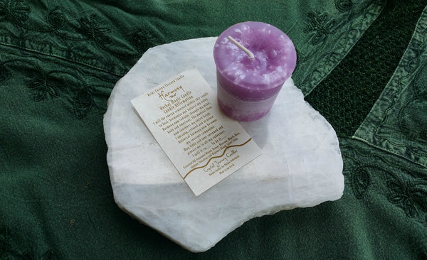 Reiki Charged, Hand-Poured Candle for Harmony + Affirmation