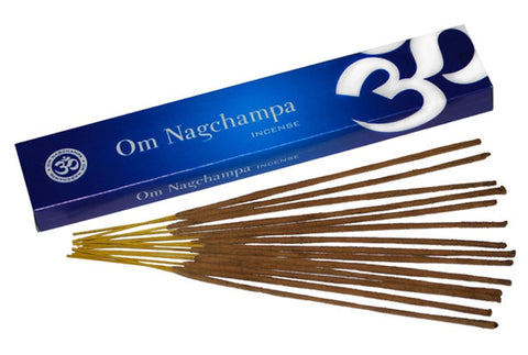 Om Nagchampa - 15 grams - Smooth Nag Champa + 3 additional Incense Stick Boxes; FB1149