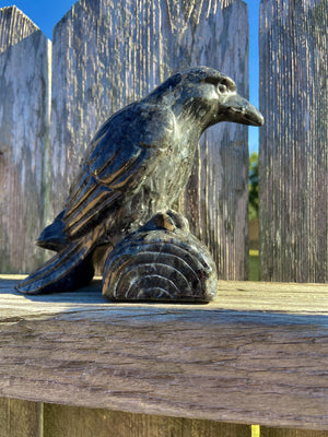 Larvikite Carved Large Raven FB2553