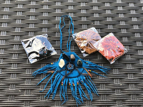 Dream Catcher Suede Medicine Bag - Centering, Stability, Grounding, FB2577