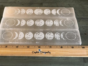 Selenite Moon Phases Base / Charging Plate; FB2175