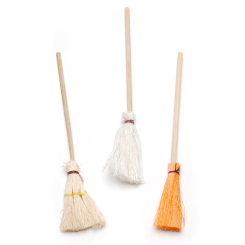 Fairy Garden / Miniature Accessories - Mini Mops and Broom Trio - FB1705